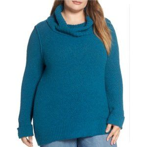Caslon Cuff Sleeve Sweater teal